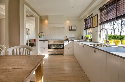 clean kitchen in an Oxford house