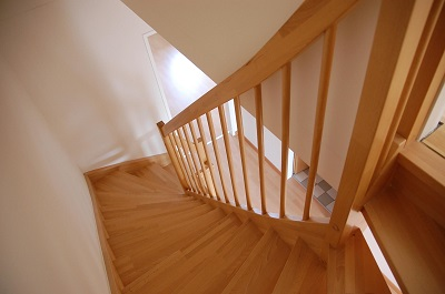 cleaning the stairs in an Oxford home